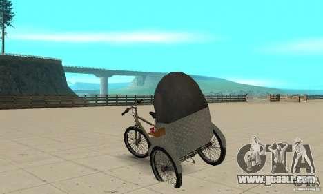 Manual Rickshaw v2 Skin1 for GTA San Andreas back left view
