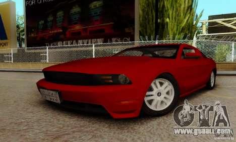 Ford Mustang 2010 for GTA San Andreas