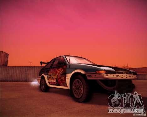 Toyota Corolla AE86 StreetAttack for GTA San Andreas right view