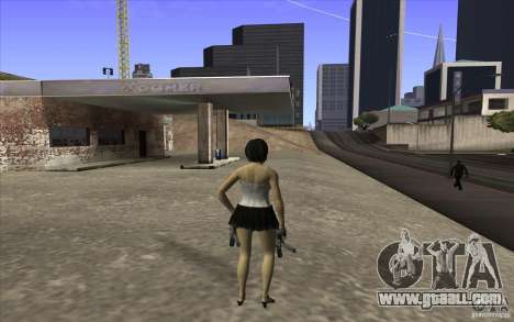 Kaileena big fan for GTA San Andreas third screenshot