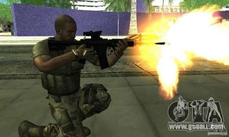 Sam Fisher Army SCDA for GTA San Andreas third screenshot