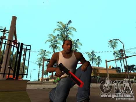 Red Chrome Weapon Pack for GTA San Andreas