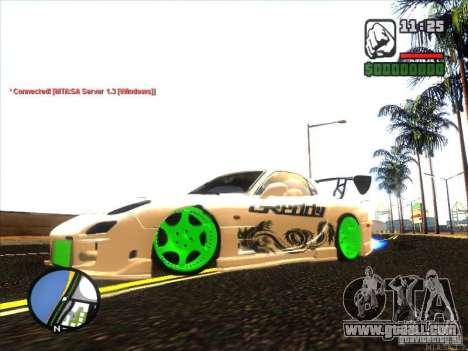 Mazda RX-7 Drift Version for GTA San Andreas left view