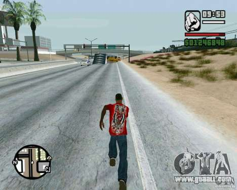 Jumps on the highway in Las Venturase for GTA San Andreas third screenshot