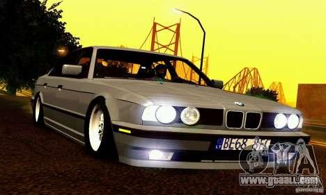 BMW E34 525i for GTA San Andreas bottom view