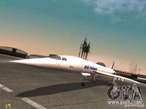 Aerospatiale-BAC Concorde Air France for GTA San Andreas