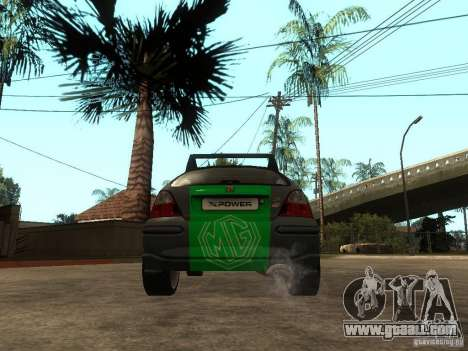 Rover MG ZR EX258 for GTA San Andreas back left view