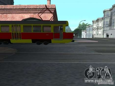 Tatra T3SU for GTA San Andreas back view