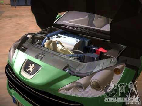 Peugeot RCZ 2010 for GTA San Andreas inner view