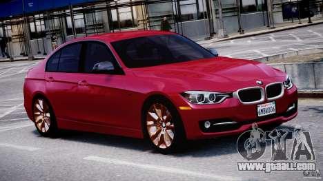 BMW 335i E30 2012 Sport Line v1.0 for GTA 4 inner view