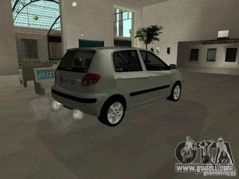 Hyundai Getz for GTA San Andreas back left view