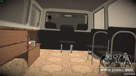 RAF 22031 ambulance for GTA San Andreas inner view