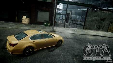 Lexus GS350 F Sport 2013 for GTA 4 back left view
