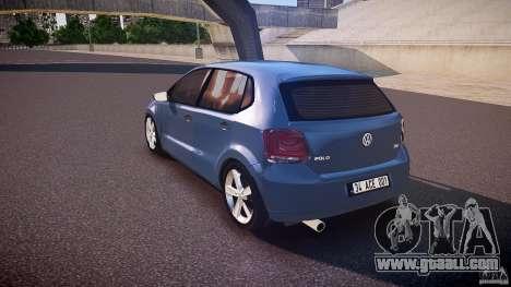 Volkswagen Polo 2011 for GTA 4 back left view