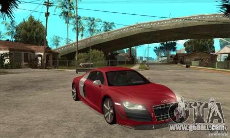 Audi R8 V10 v2 for GTA San Andreas back view
