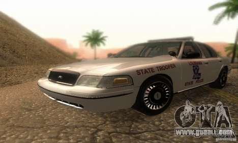 Ford Crown Victoria Louisiana Police for GTA San Andreas