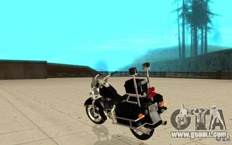 GTAIV TBOGT PoliceBike for GTA San Andreas back left view