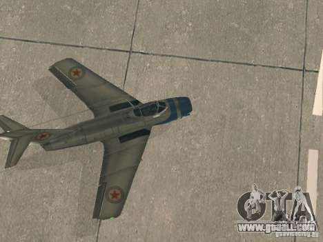 MiG 15 with weapons for GTA San Andreas right view
