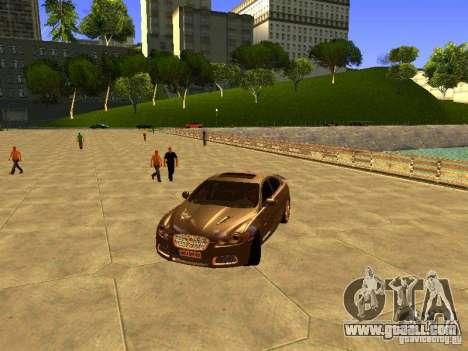 Jaguar XFR 2011 for GTA San Andreas inner view