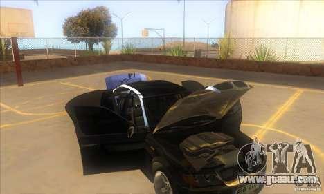 BMW 325i E46 v2.0 for GTA San Andreas upper view