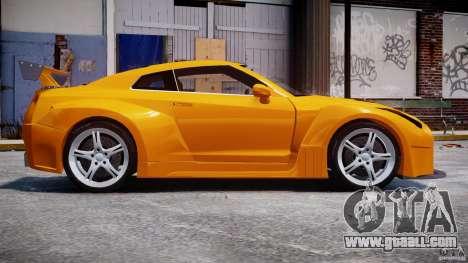 Nissan Skyline R35 GTR for GTA 4 back view