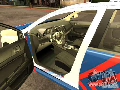 Mitsubishi Lancer X Police Indonesia for GTA San Andreas back left view