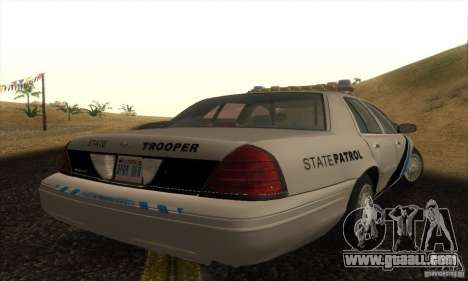 Ford Crown Victoria Colorado Police for GTA San Andreas left view