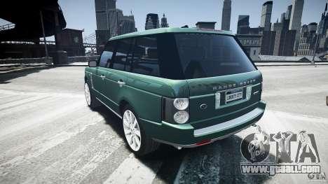 Range Rover Supercharged v1.0 for GTA 4 back left view