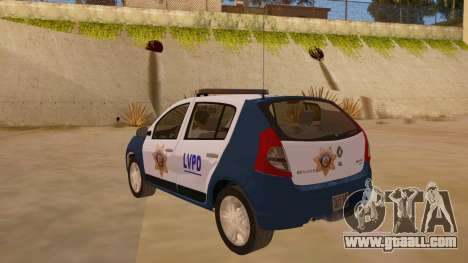 Renault Sandero Police LV for GTA San Andreas back left view