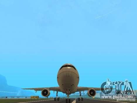 McDonell Douglas DC10 Continental Airlines for GTA San Andreas back view