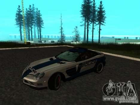 Mercedes-Benz SLR 722 SCPD for GTA San Andreas