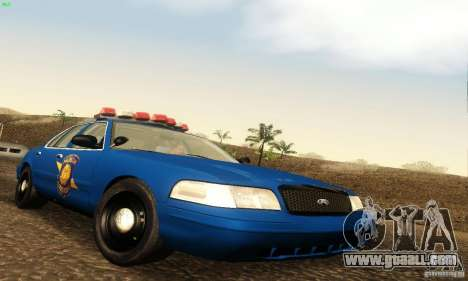 Ford Crown Victoria Michigan Police for GTA San Andreas
