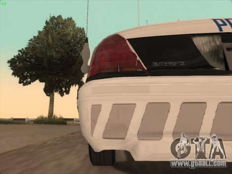 Ford Crown Victoria Vancouver Police for GTA San Andreas interior