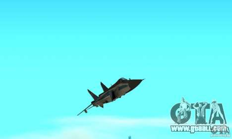 MiG-31 Foxhound for GTA San Andreas upper view