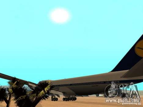 Boeing 747-100 Lufthansa for GTA San Andreas inner view