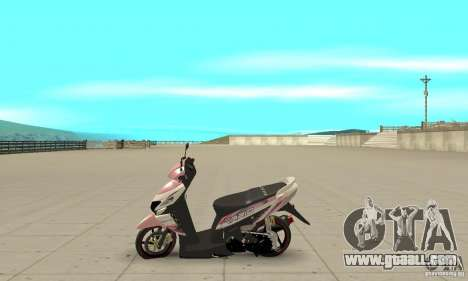 Honda Vario-Velg Racing for GTA San Andreas left view