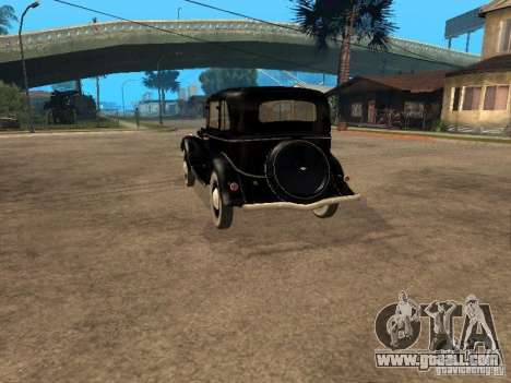 Gaz M1 for GTA San Andreas back left view