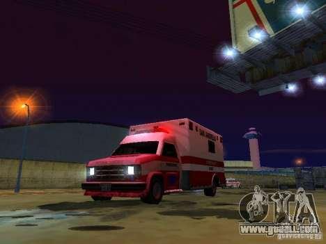 Ambulance 1987 San Andreas for GTA San Andreas upper view