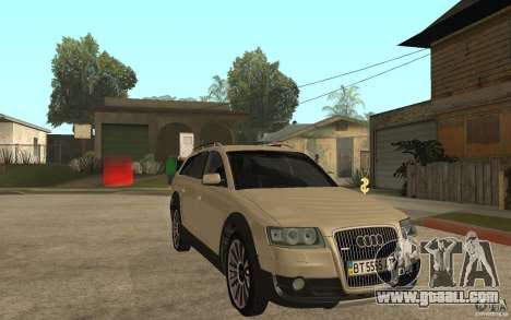 Audi Allroad Quattro for GTA San Andreas back view