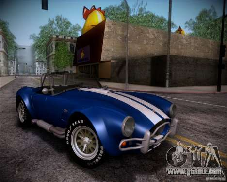Shelby Cobra 427 Full Tunable for GTA San Andreas bottom view