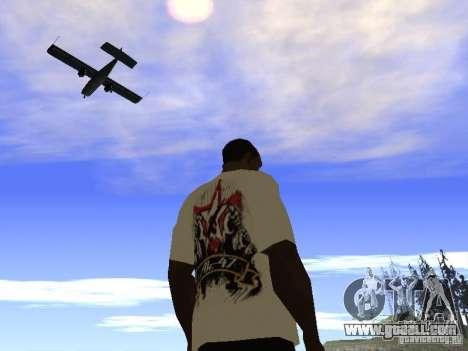 T-shirt NoGGano228 and AK 47 for GTA San Andreas fifth screenshot