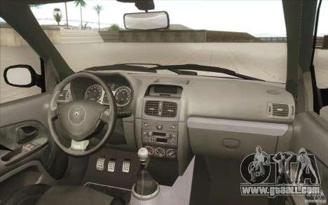 Renault Clio V6 for GTA San Andreas bottom view
