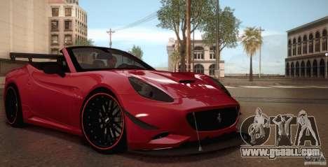 Ferrari California for GTA San Andreas interior