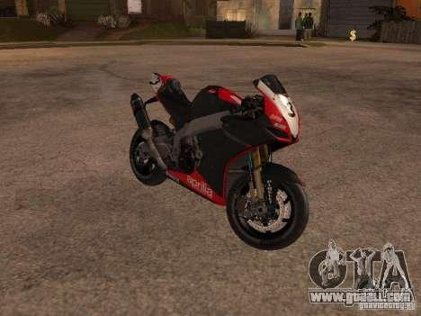 Aprilia RSV4 for GTA San Andreas