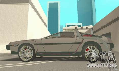 DeLorean DMC-12 (BTTF3) for GTA San Andreas right view
