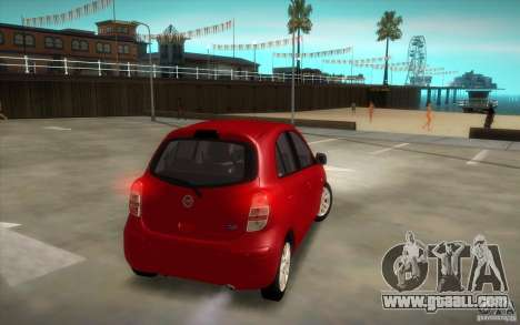 Nissan Micra 2011 for GTA San Andreas right view