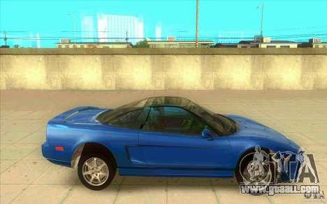 Honda NSX 1991 stock for GTA San Andreas