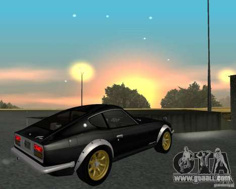 Nissan  Fairlady 240ZG for GTA San Andreas back view