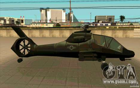 Sikorsky RAH-66 Comanche stealth green for GTA San Andreas right view