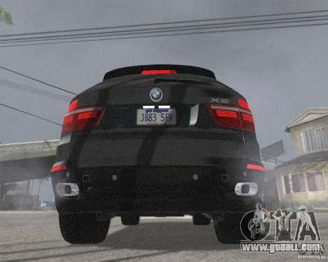 BMW X5 2009 Tune for GTA San Andreas back left view